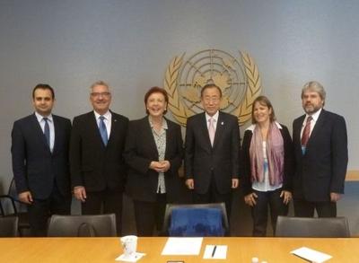 Thilo Hoppe trifft Ban Ki-Moon